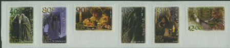 "NZ SG2464a Lord of the Rings: The Fellowship of the Ring strip of 6 from ""Jumbo Roll"" no trim"